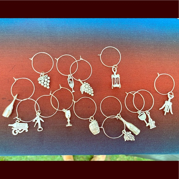 EdenDesign Jewelry Other - Silver handmade wine charms